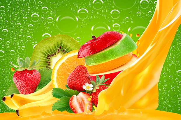 Fruit Cocktail Wall Mural Food Drink Wall Murals Wallpaper Ink 621x414