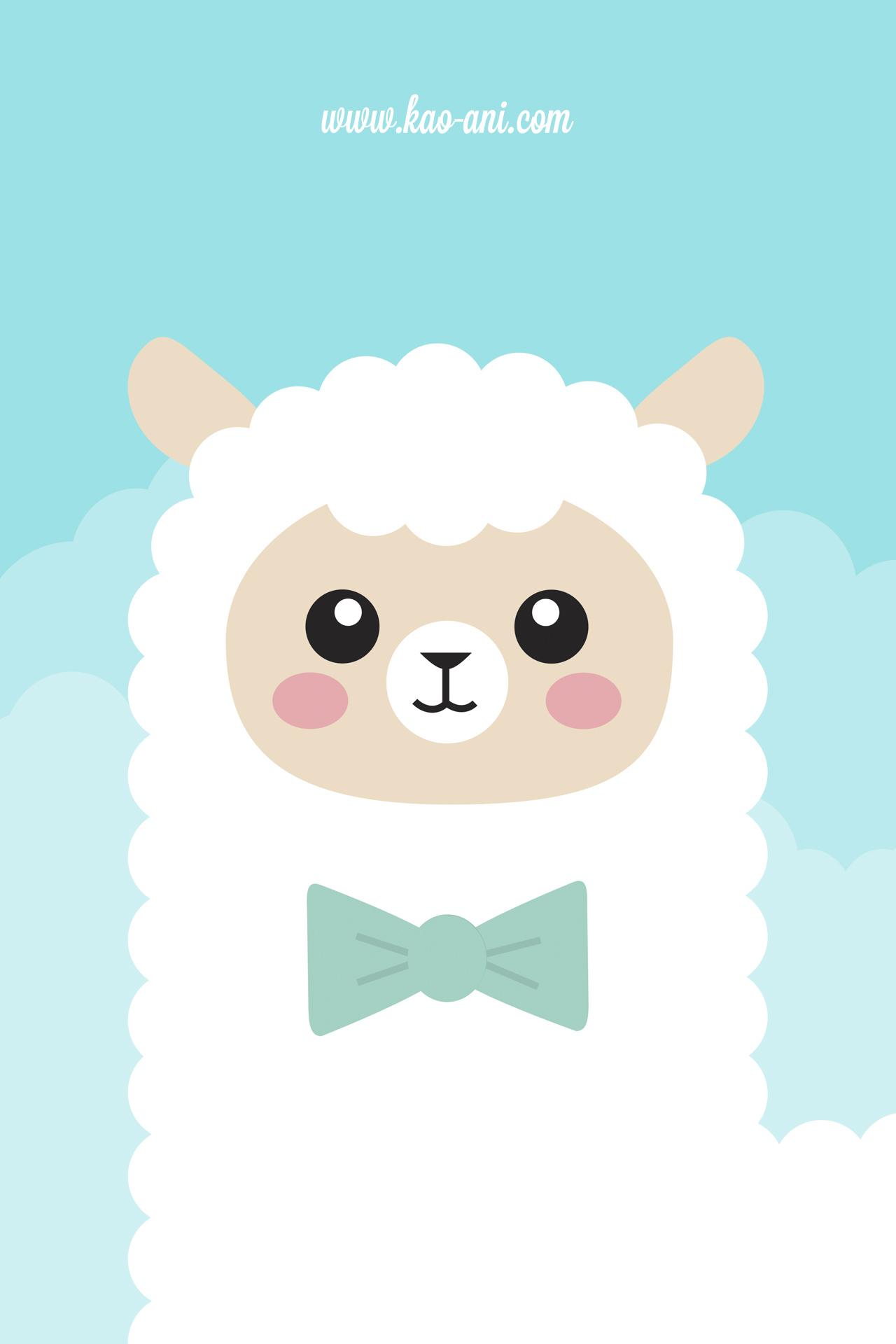 Alpaca iPhone Wallpaper Kao anicom 1280x1920