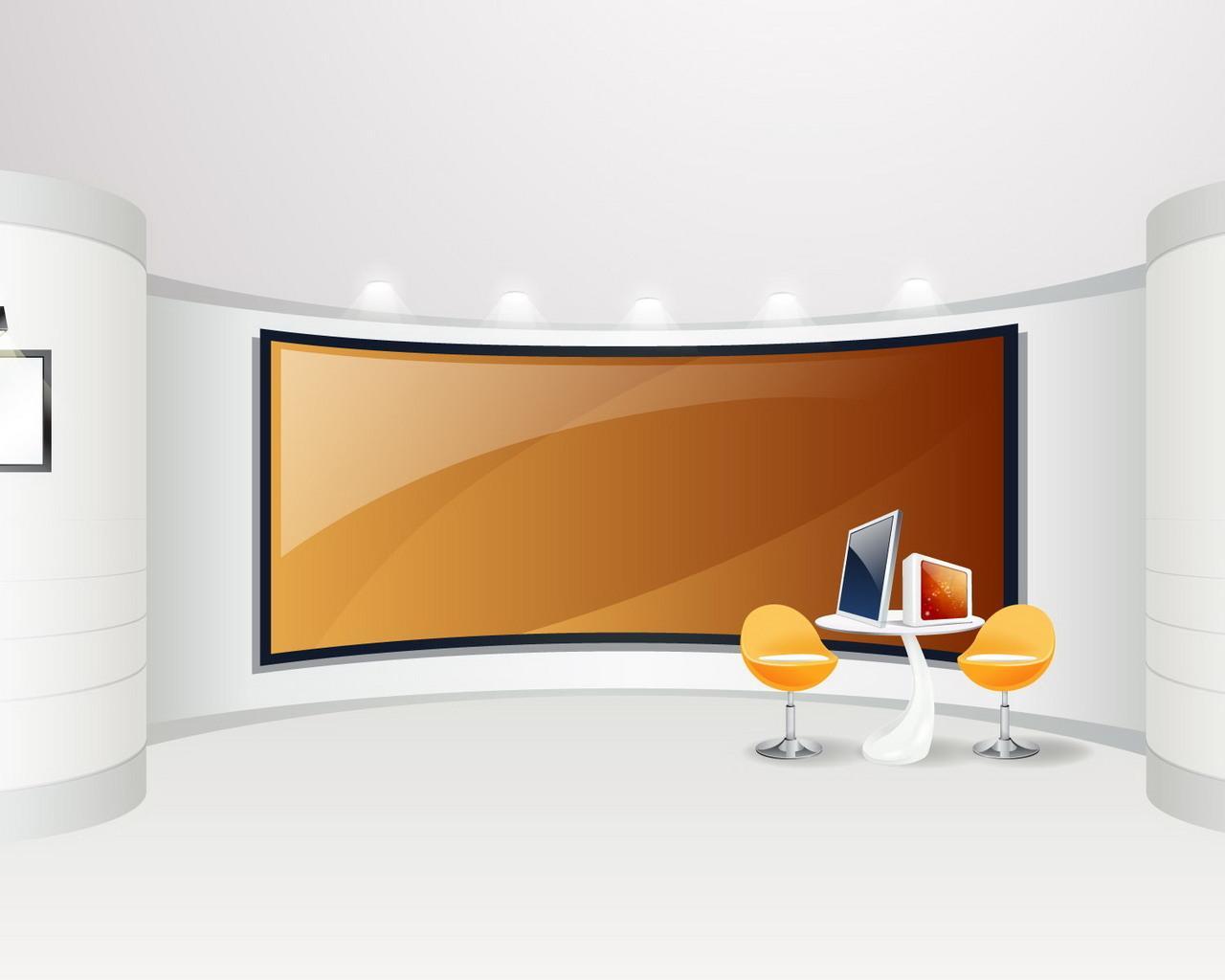 Empty Office Desktop Wallpaper