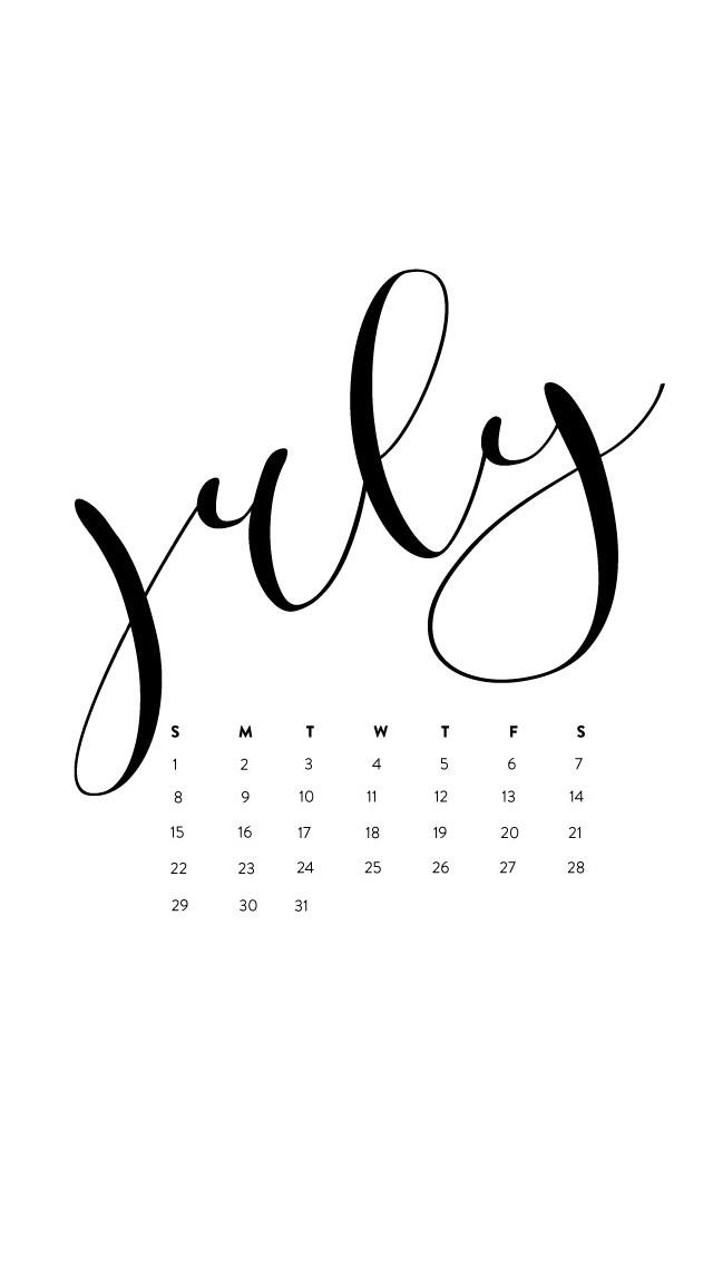 July 2018 iPhone Calendar Wallpapers Max Calendars 640x1136