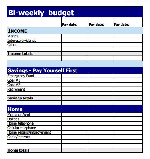 Bi Weekly Budget Template   Hot Girls Wallpaper 500x530