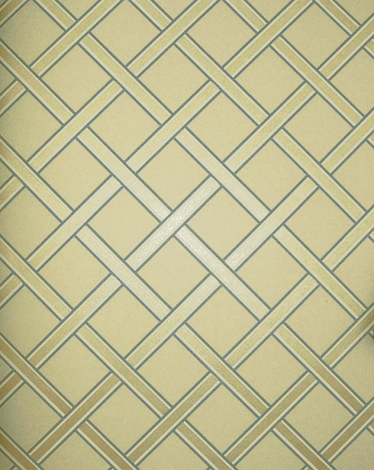 Gilt Trellis Wallpaper Cream wallpaper with gold and duck egg trellis 534x671