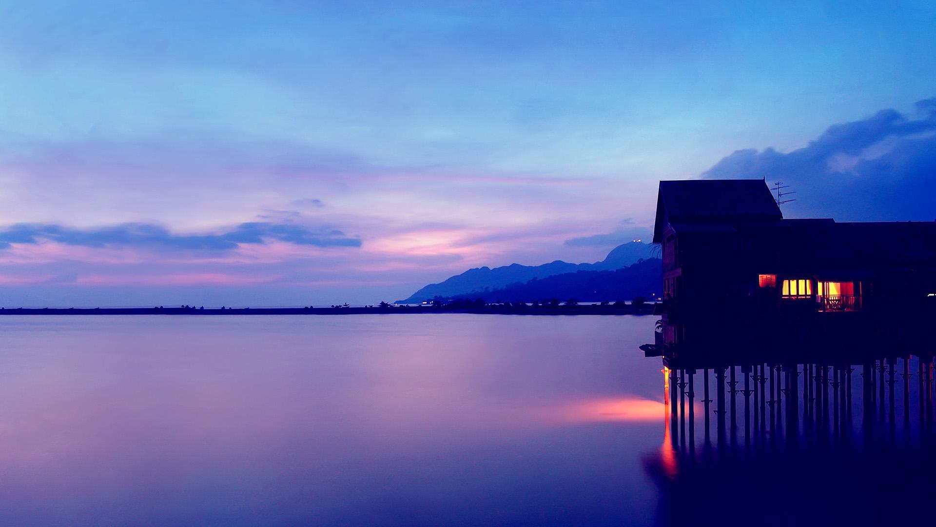 wallpaper Twilight landscape beautiful sunset coast desktop 1920x1080