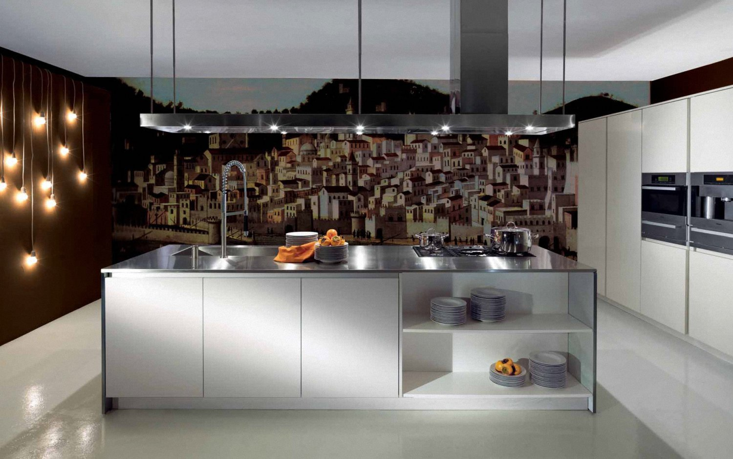 Kitchen Wall Murals One and The Old Houses MOTIQ Online   Home 1500x939