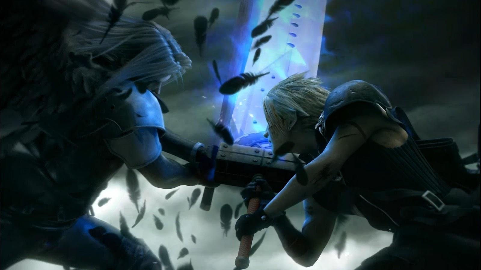 VII Advent Children Sephiroth vs Cloud Strife Mystery Wallpaper 1600x900