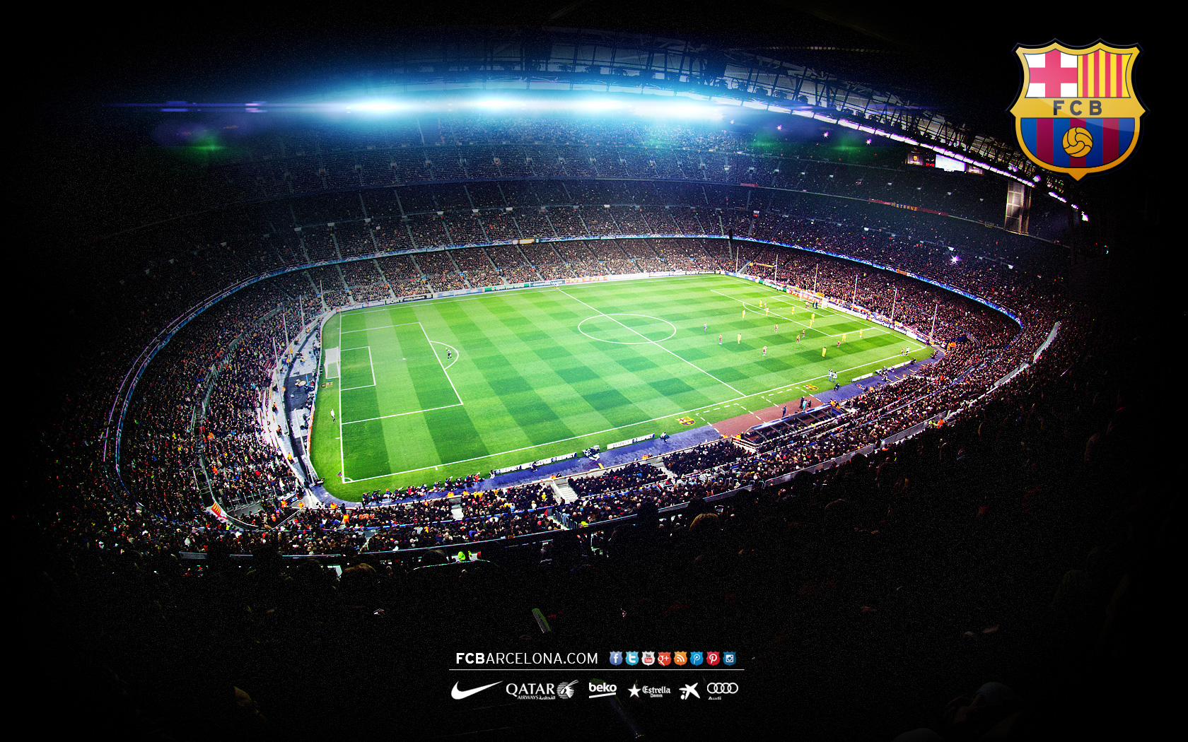 Camp Nou 02   Wallpaper FC Barcelona 1680x1050