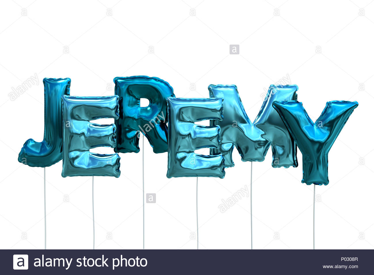 Name jeremy made of blue inflatable balloons isolated on white 1300x956