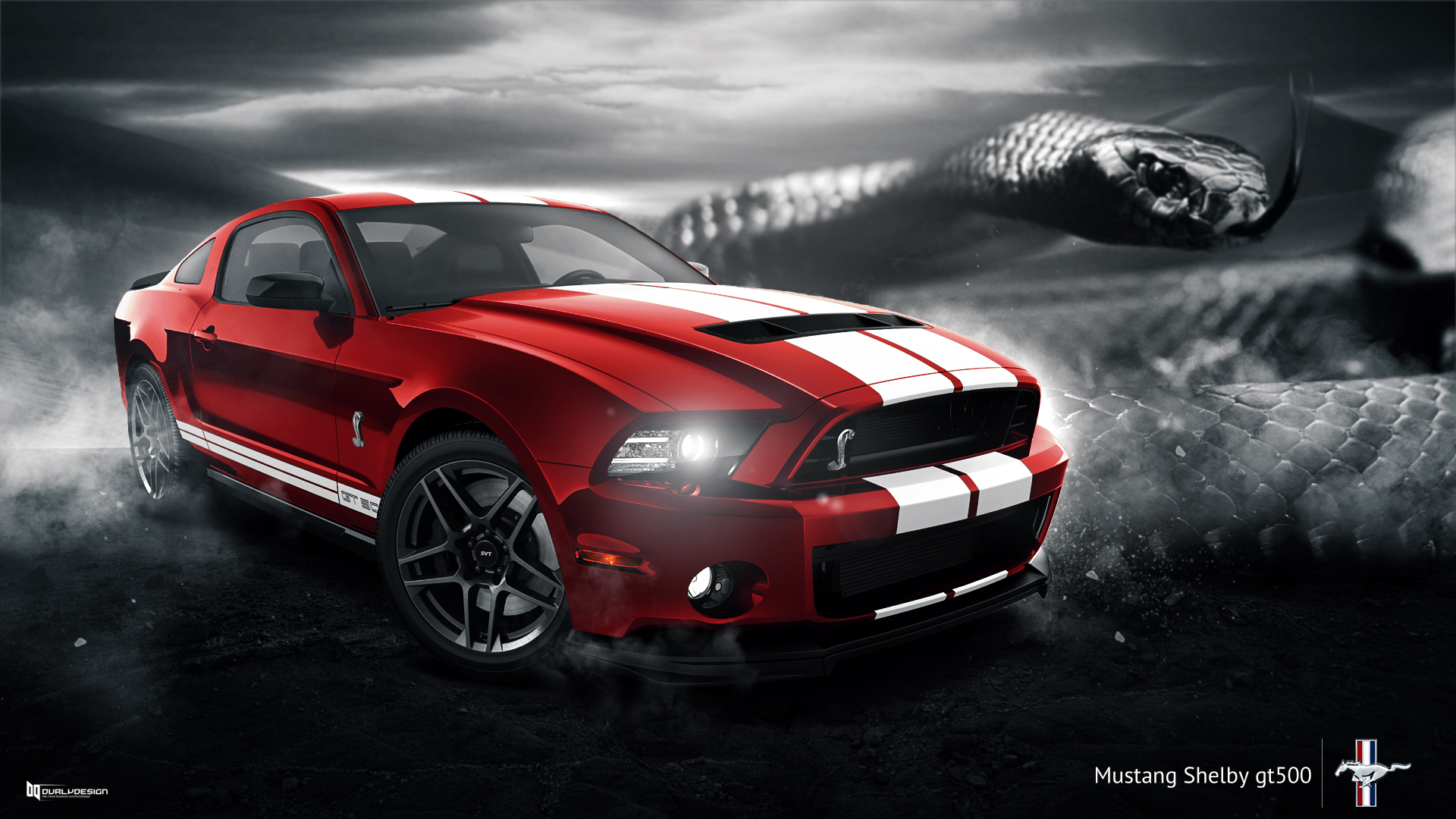 Ford mustang shelby gt500 wallpaper by durly0505 on deviantart