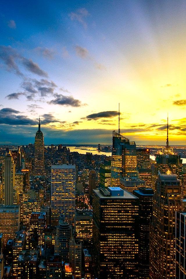 New York Cityscape Wallpaper   640x960 640x960