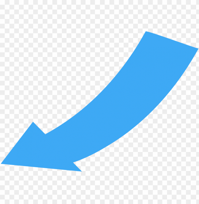curved wide directional arrow pointing to the lower   blue curved 840x859