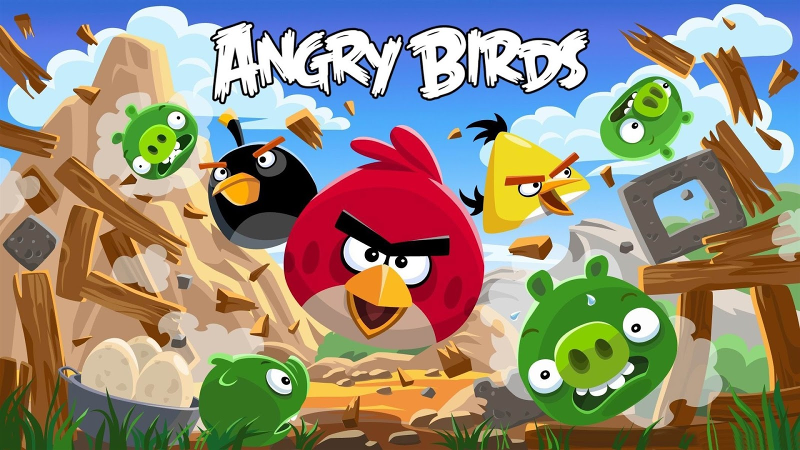 TOP HD WALLPAPERS ANGRY BIRDS WALLPAPERS 1600x900