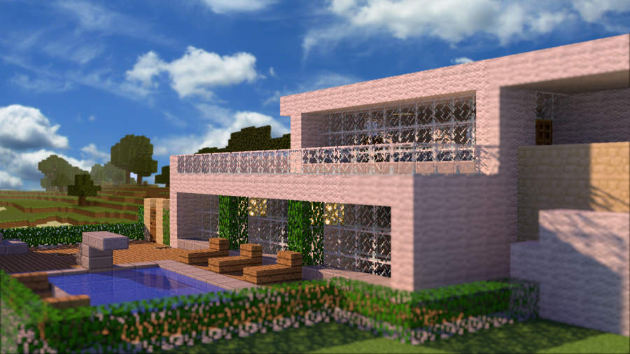 HD wallpaper Minecraft House by PoPlioP 900x506