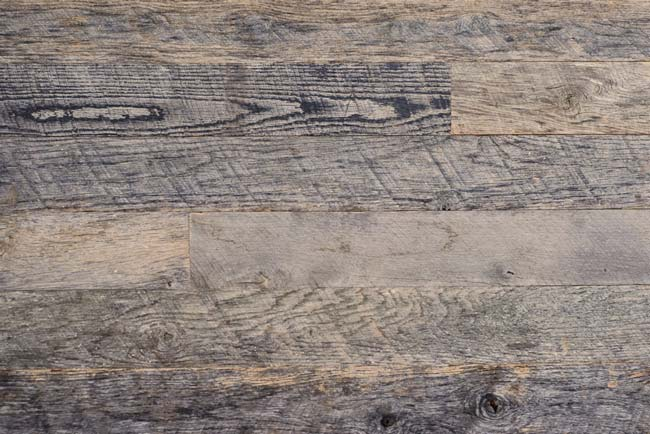 Reclaimed antique weathered gray wall cladding textured patina Oak 650x434
