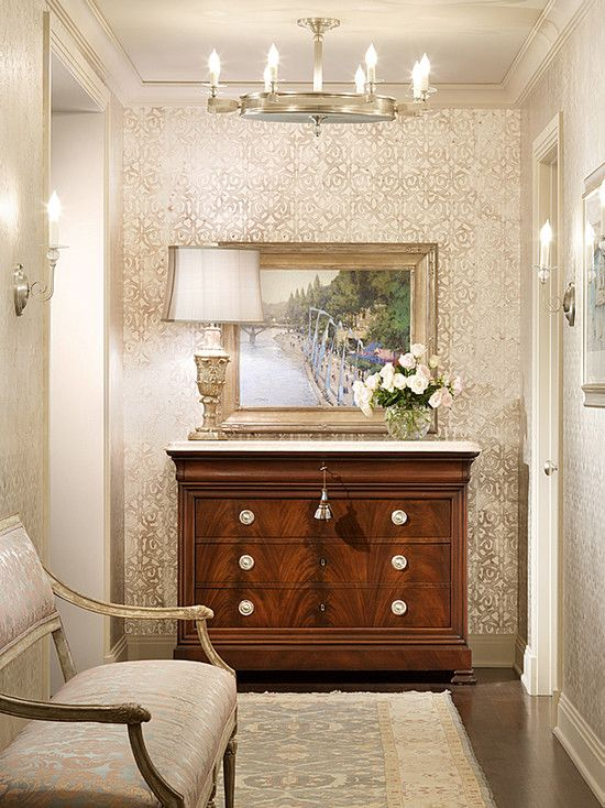Wallpaper in a hallway or small foyer For the Home Pinterest 550x734
