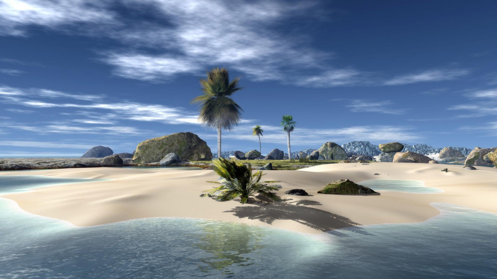 3D Beach HD Wallpapers 1920x1080 Beach Wallpapers 1920x1080 Download 1920x1080
