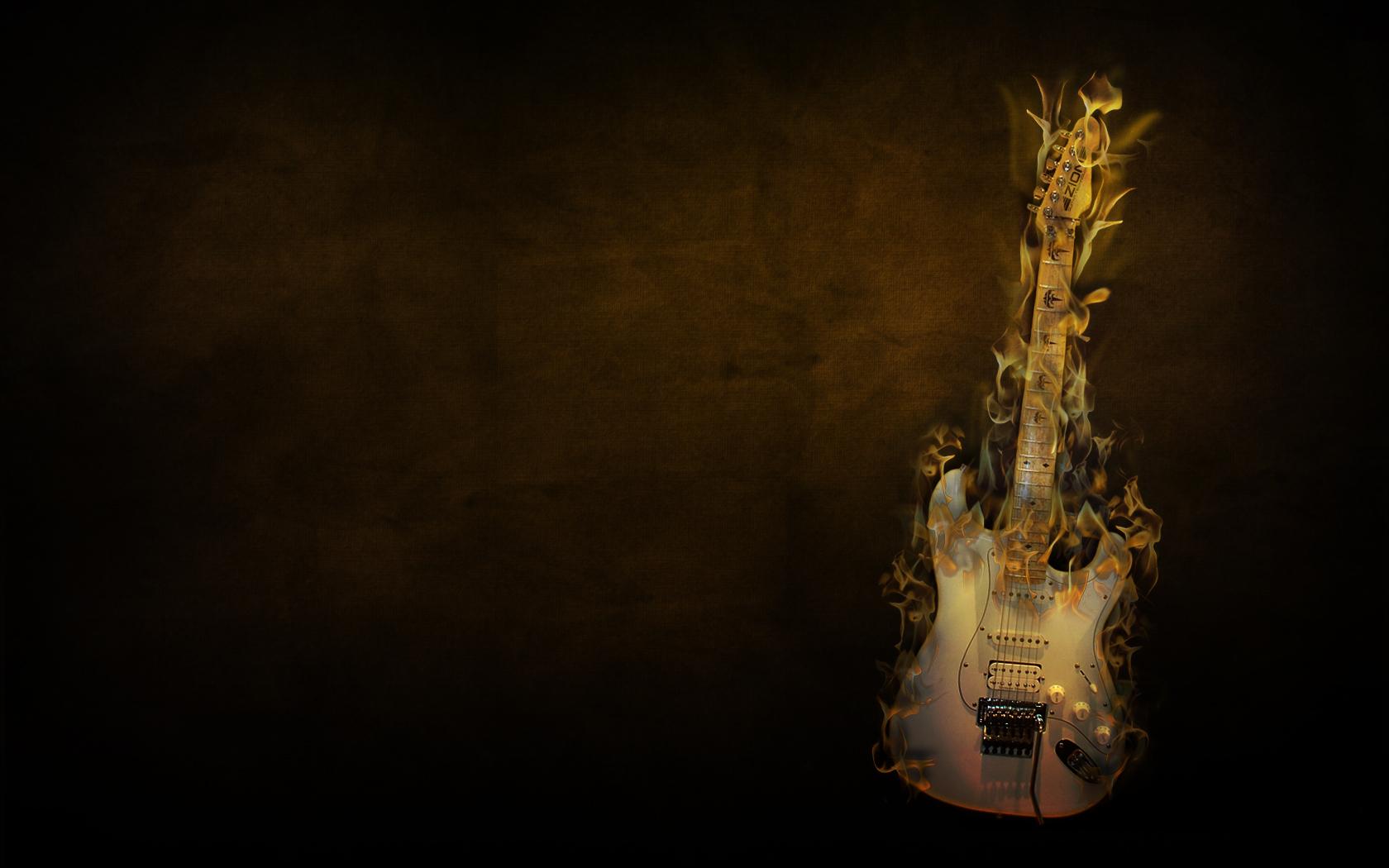 Flaming Guitar Wallpaper   Music Wallpaper 17264134 1680x1050