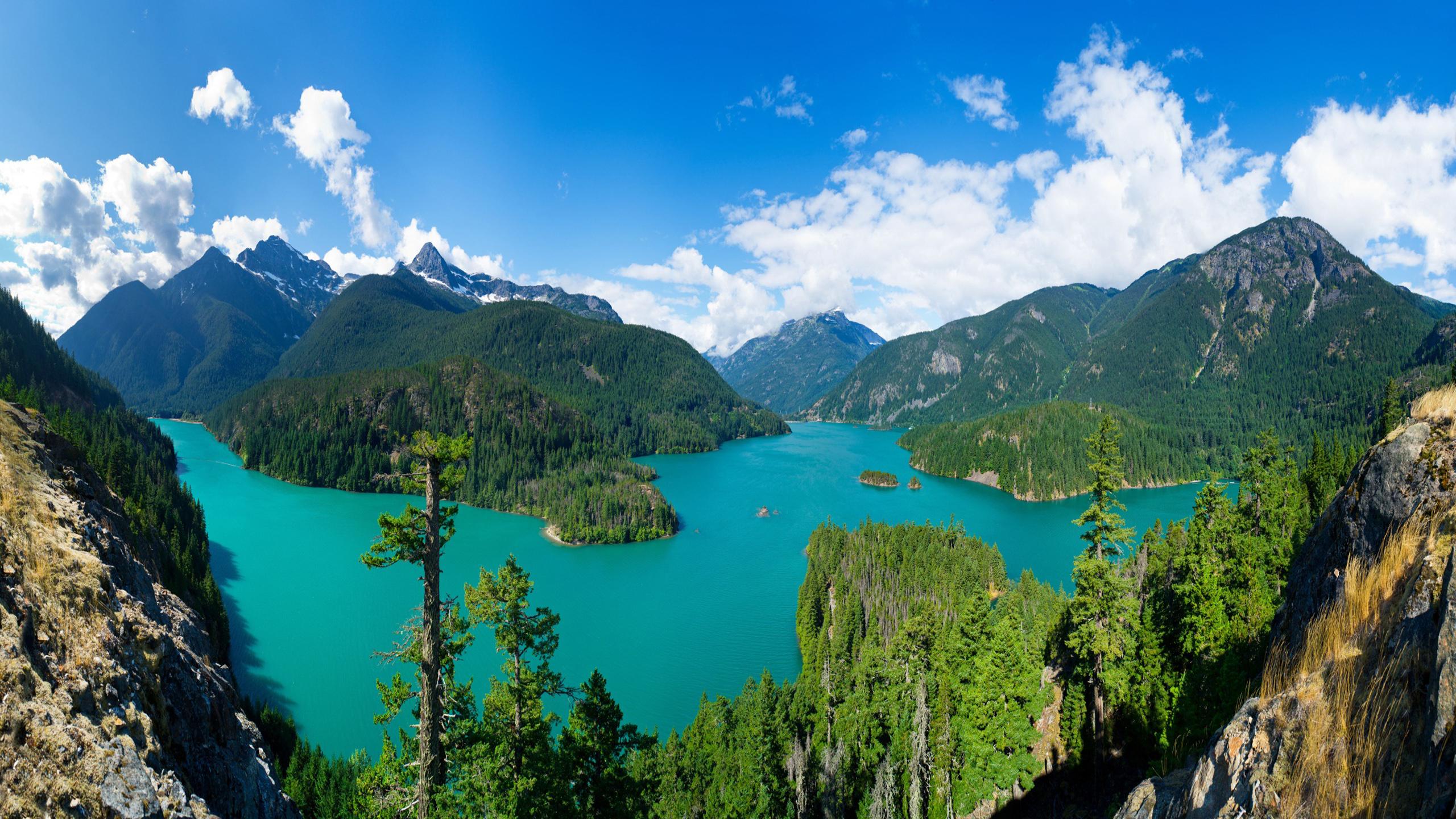 Diablo Lake North Cascades National Park Washington Usa Mountain 2560x1440