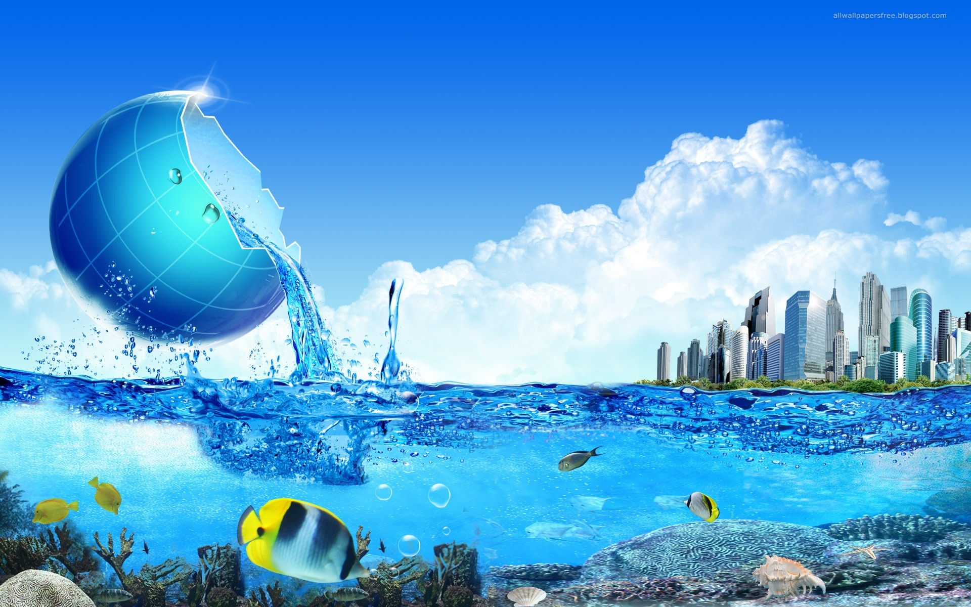 Nature Water 3D Photography HD Wallpaper Stylish Wallpapers 1920x1200