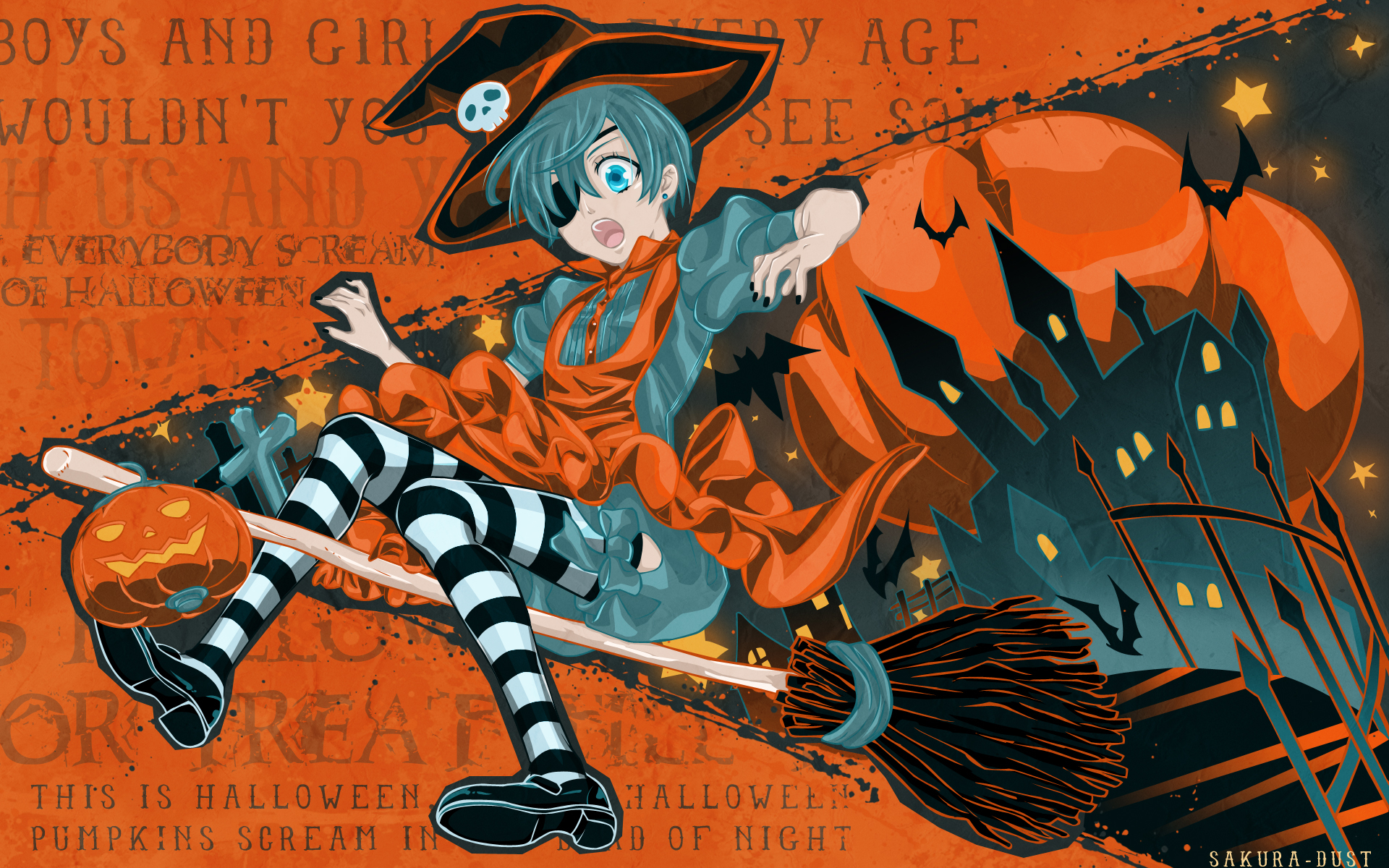74 Anime Halloween Wallpaper On Wallpapersafari