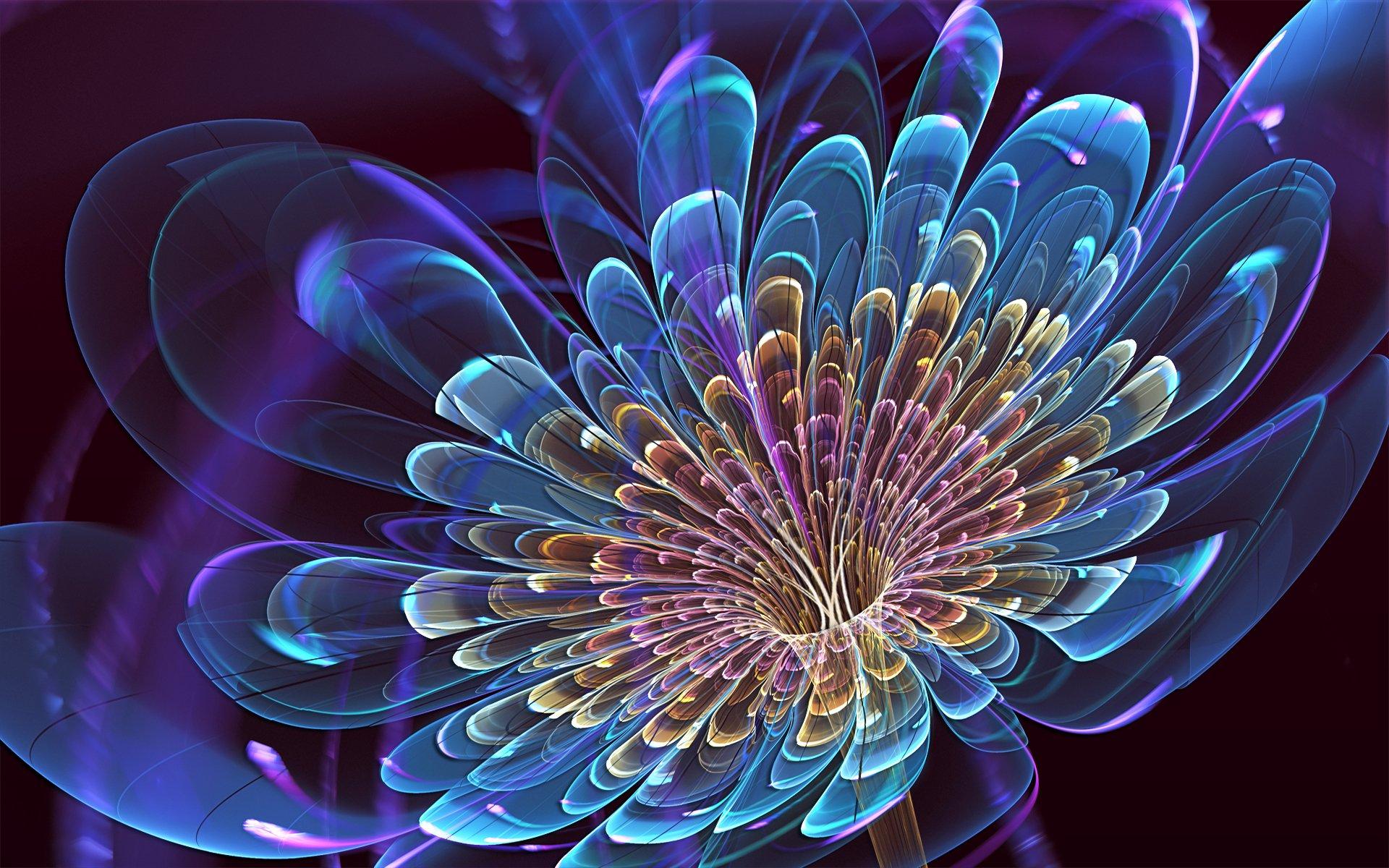 3D Blooming Flower Widescreen HD Wallpaper 1920x1200
