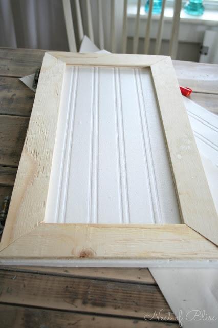 cabinet door beadboard makeover 426x640