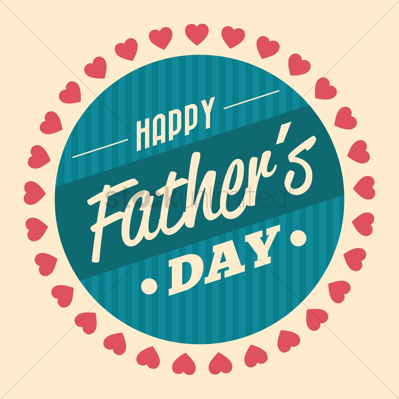 Happy fathers day wallpaper Vector Image   1561979 StockUnlimited 1300x1300