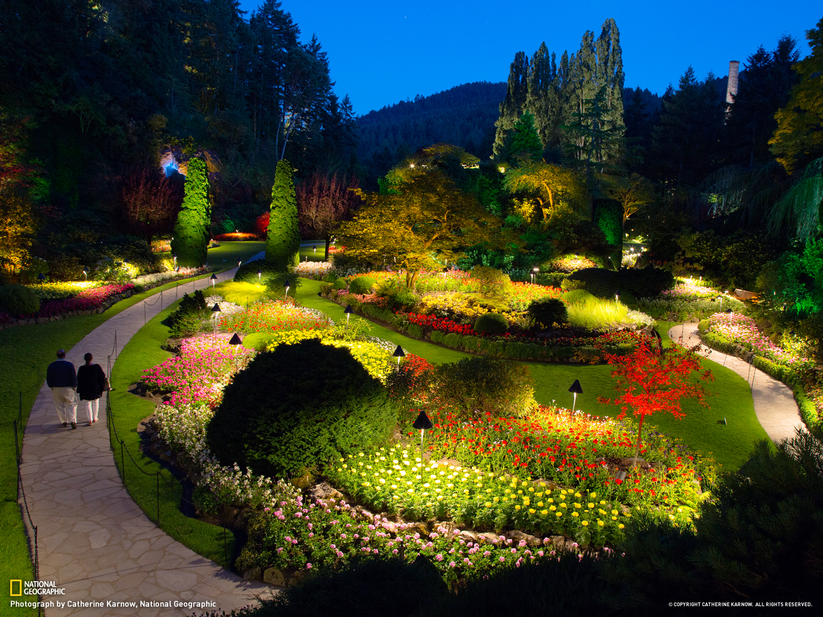 Butchart Gardens Victoria British Columbia   National Geographic 1600x1200