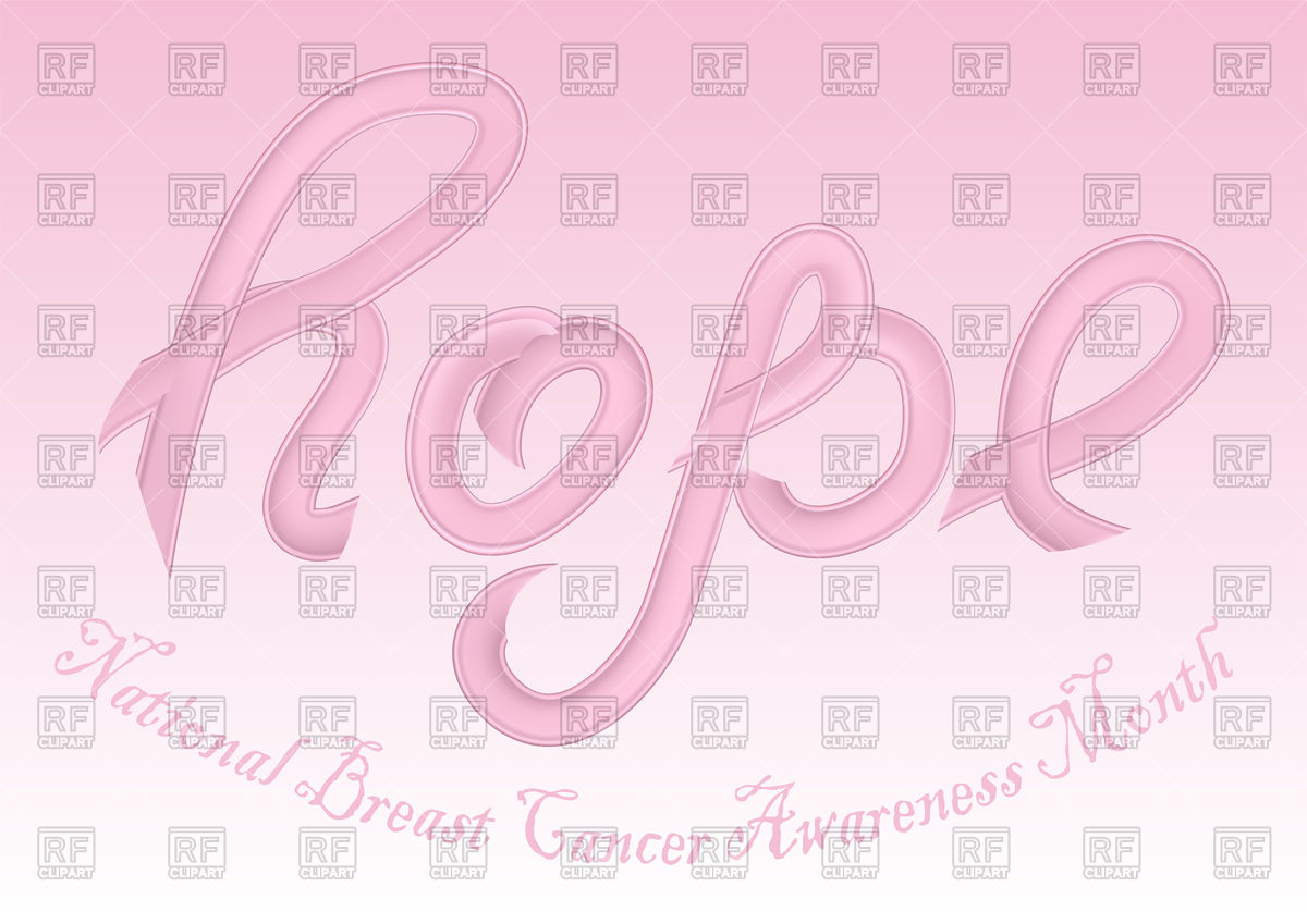 National Breast Cancer Awareness Month conceptual background with 1200x849
