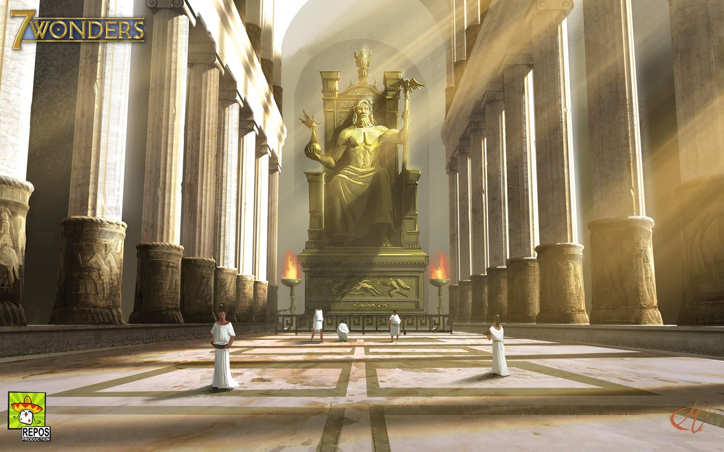 Statue of Zeus Olympia Places Id Like to Go Wonders of the 1440x900