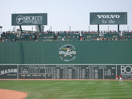 The Green Monster and Scoreboard Fenway Park Boston MA Flickr 640x480
