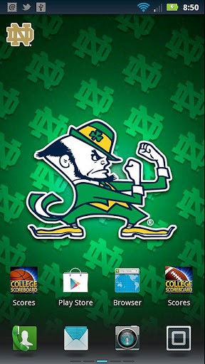 Officially licensed Notre Dame Fighting Irish Revolving Wallpaper app 288x512