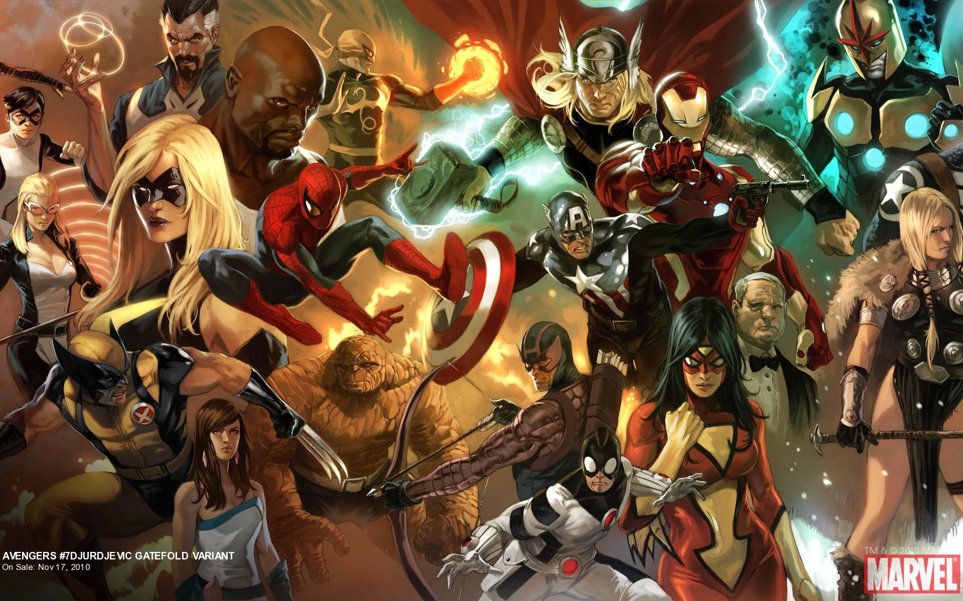 Avengers 7 Djurdjevic Gatefold Variant Part 2 Marvelcom 1920x1200