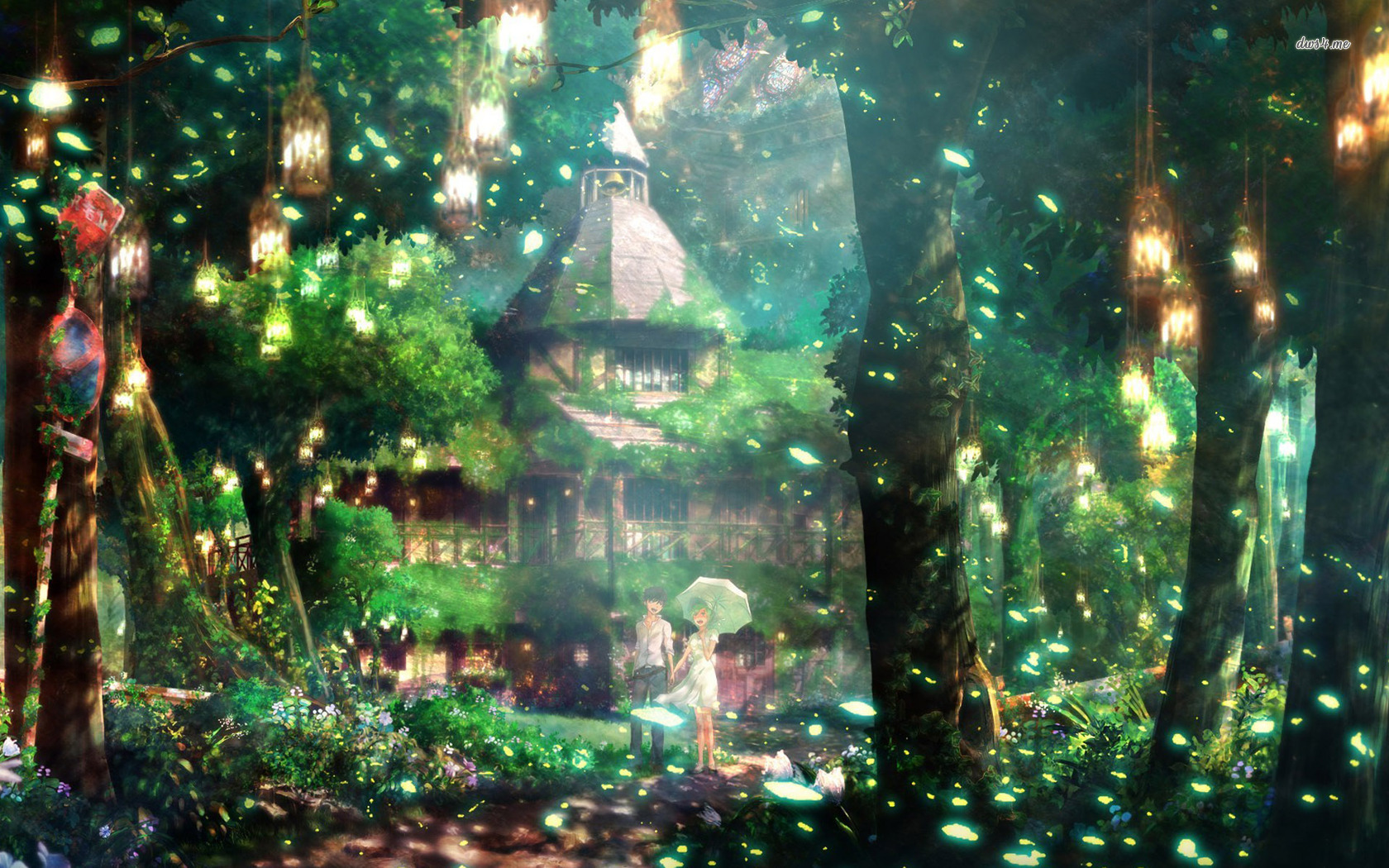 Magical forest wallpaper   Anime wallpapers   8608 1680x1050