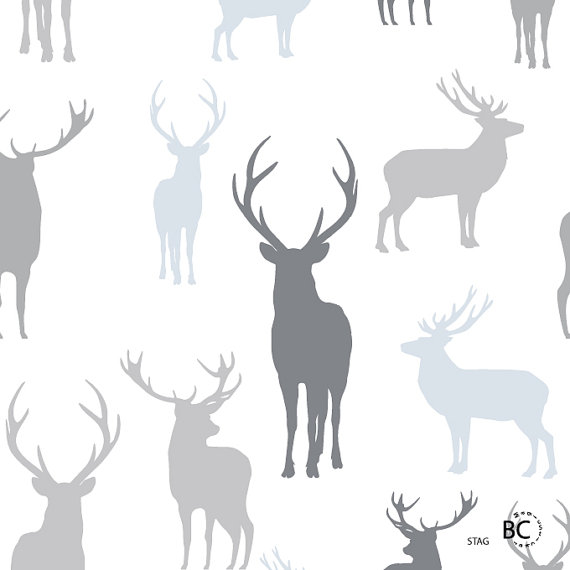 Removable Fabric Wallpaper Stag PeelStick Reusable DIY Re 570x570