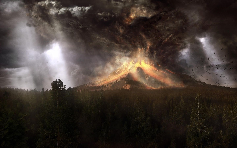 Volcanic eruptions modern HD wallpaper NO12857 1440x900