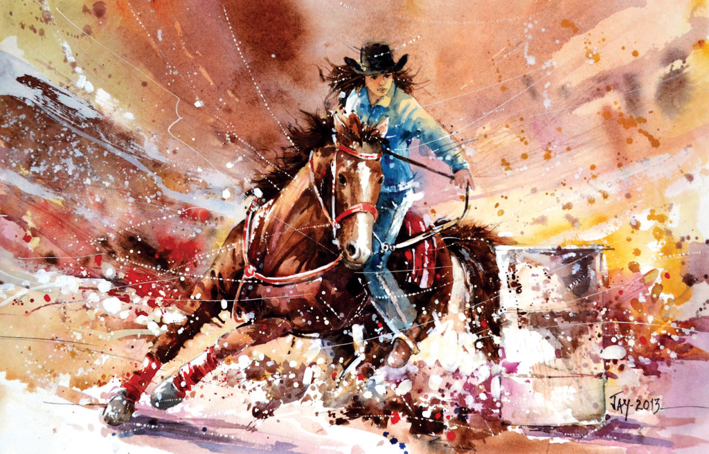 Speed Painting   Barrel Racing by Abstractmusiq 1024x656