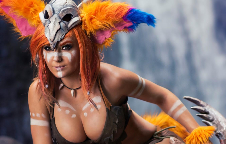 Wallpaper model pretty cosplay pose Jessica Nigri Martin Wong 1332x850