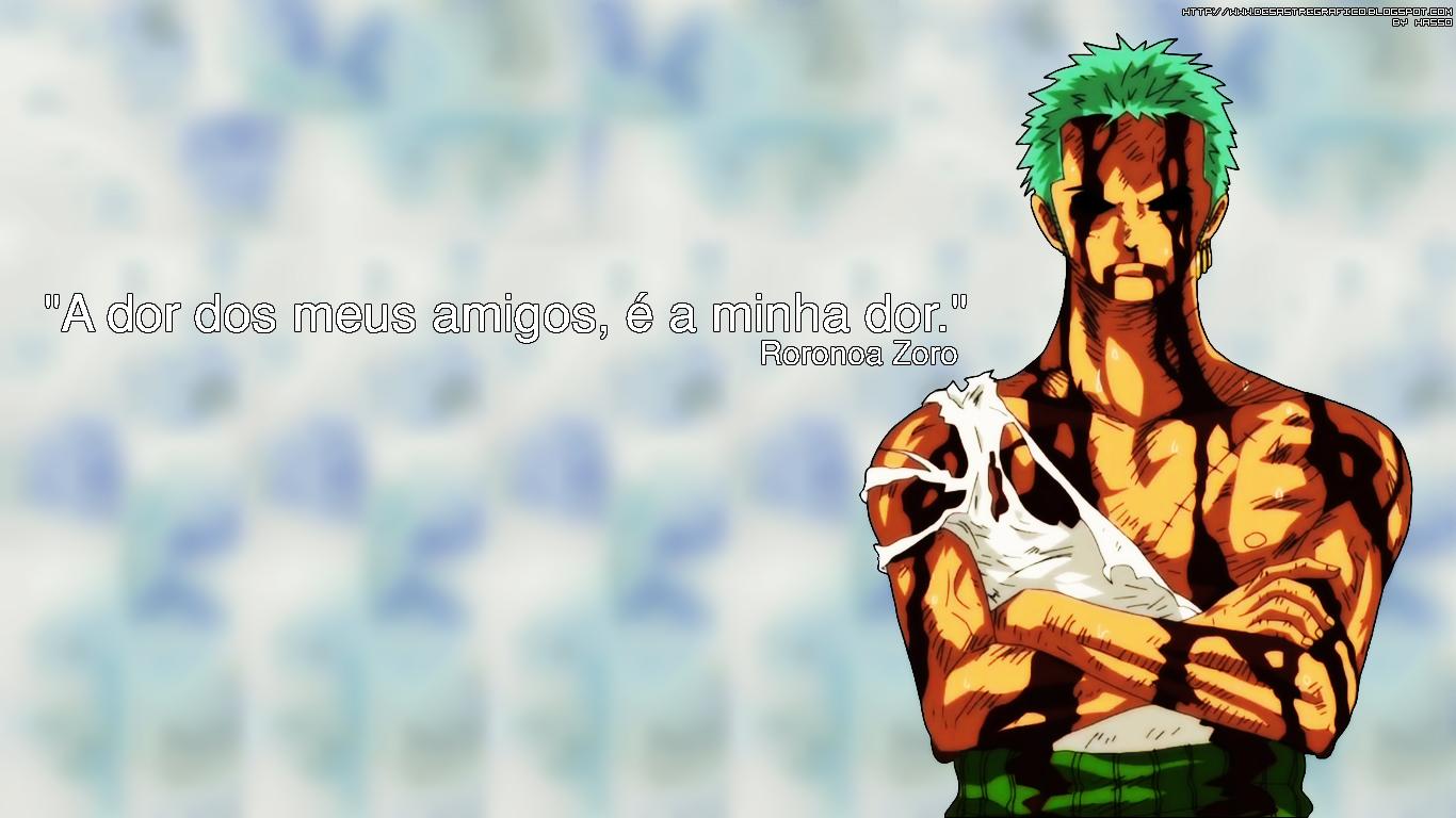Desastre Grfico Wallpaper   Roronoa Zoro One Piece 1366x768