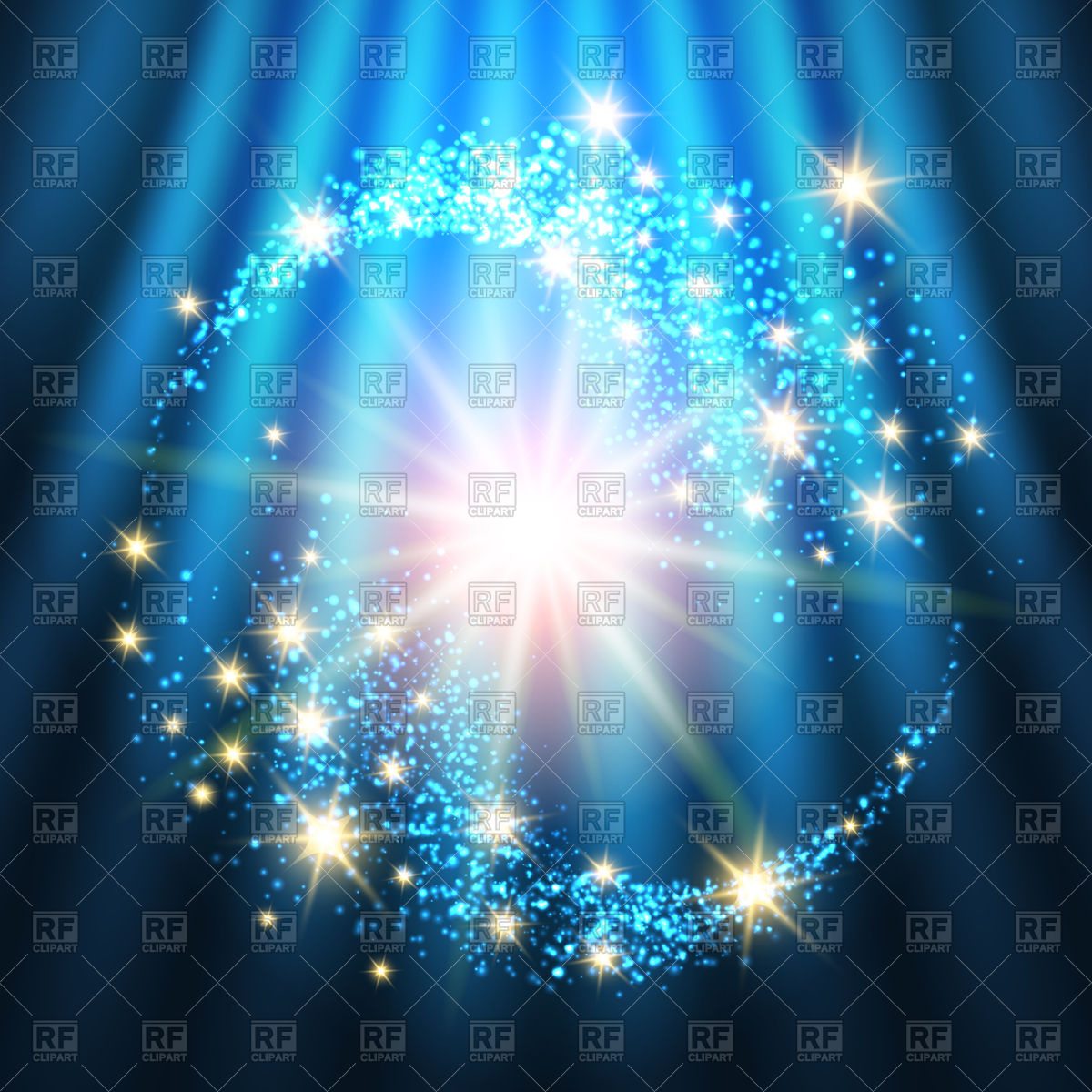 Bright holiday background with glowing stars Vector Image of 1200x1200