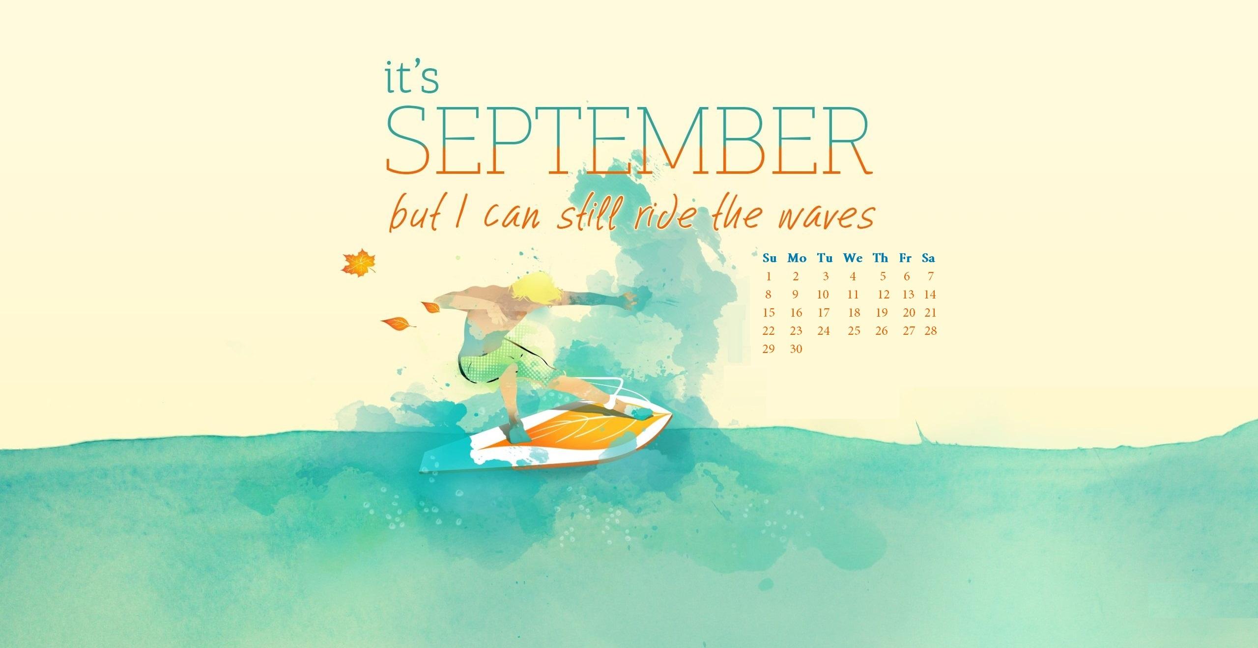 September 2019 Desktop Wallpaper Max Calendars 2560x1320