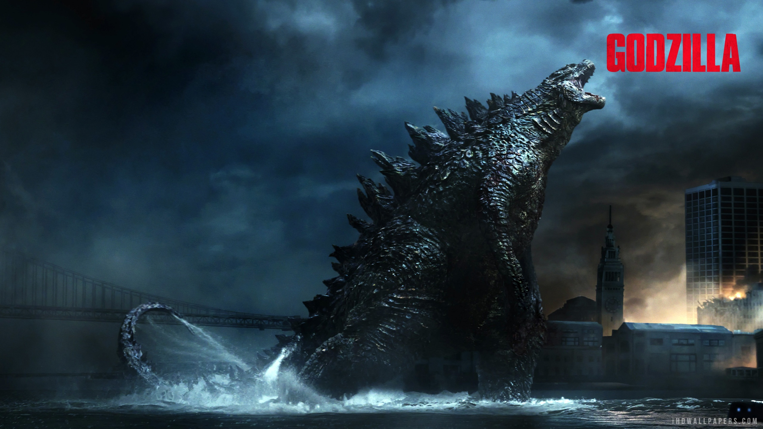 Godzilla 2014 Godzilla Mighty Roar HD Wallpaper   iHD Wallpapers 2560x1440