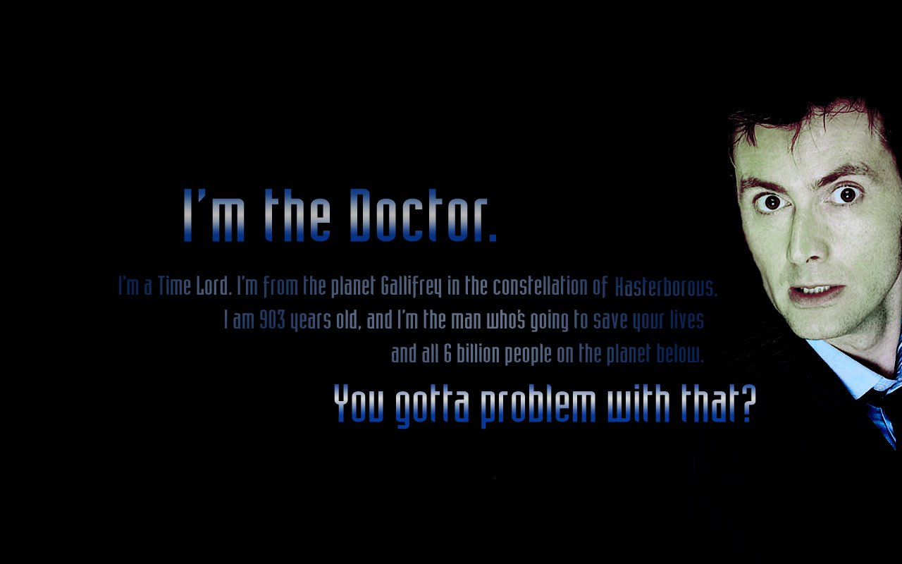 Who Wallpapers With David Tennant Quote The Art Mad Wallpapers 1280x800