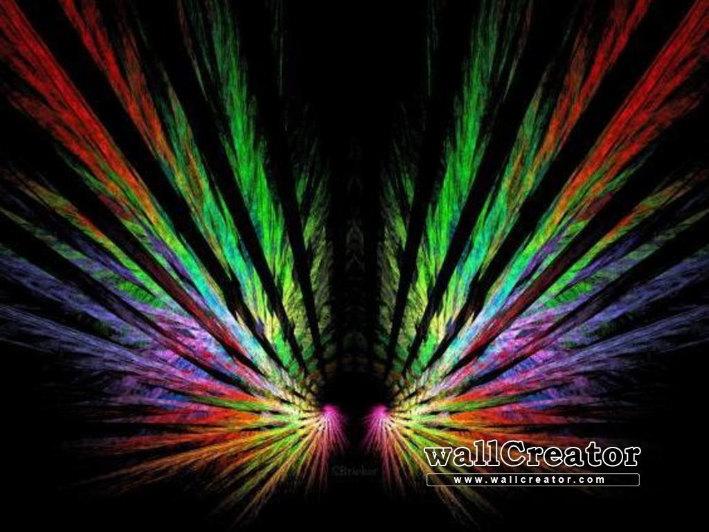 colorful angel wings   1366 768 Wallpaper 1024x768