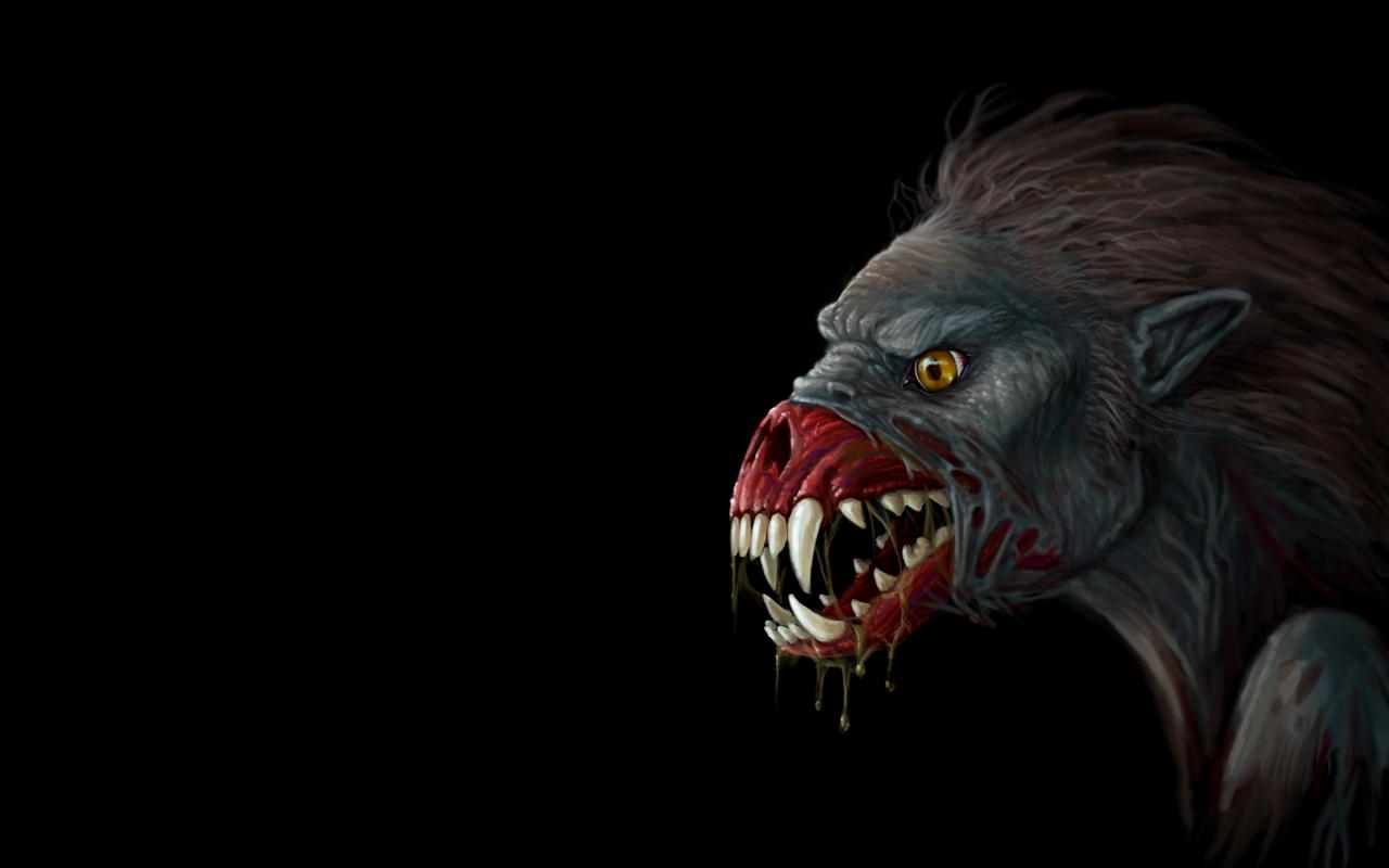 Dark Werewolf Wallpaper 1280x800