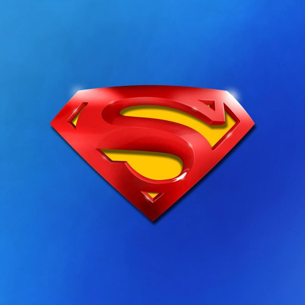 iPad Wallpapers Superman logo   Movie TV iPad iPad 2 iPad mini 1024x1024