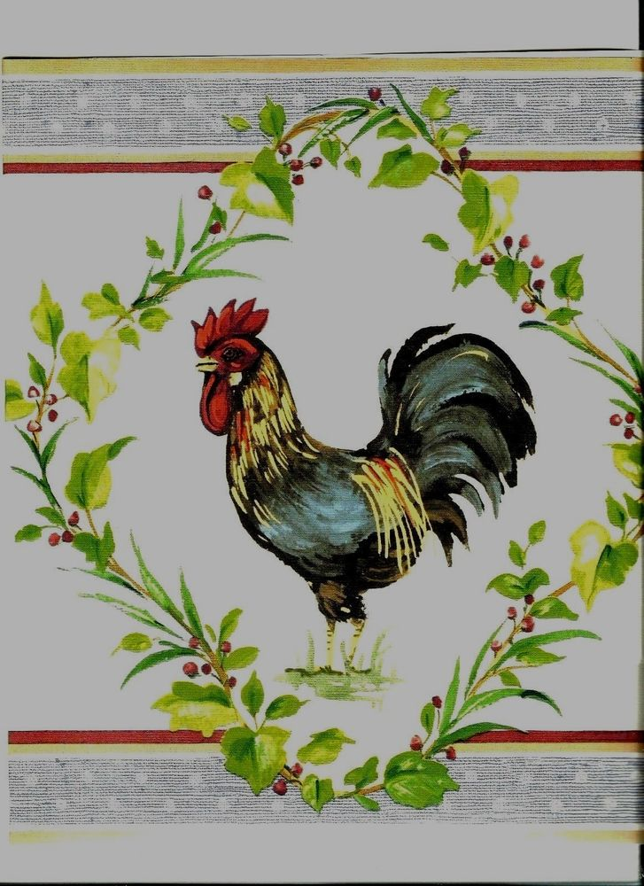 Country Style Rooster Wallpaper KH5920B eBay 727x1000
