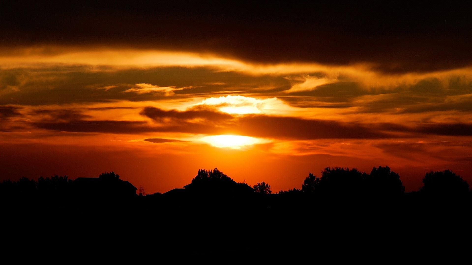 beautiful sunset description