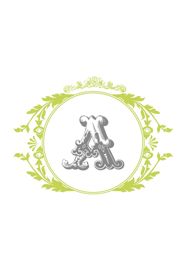 Vintage monogram  Awesome site will create custom monograms colors 640x960