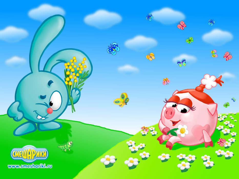 Download mobile wallpaper Cartoon Smeshariki 9485 933x700