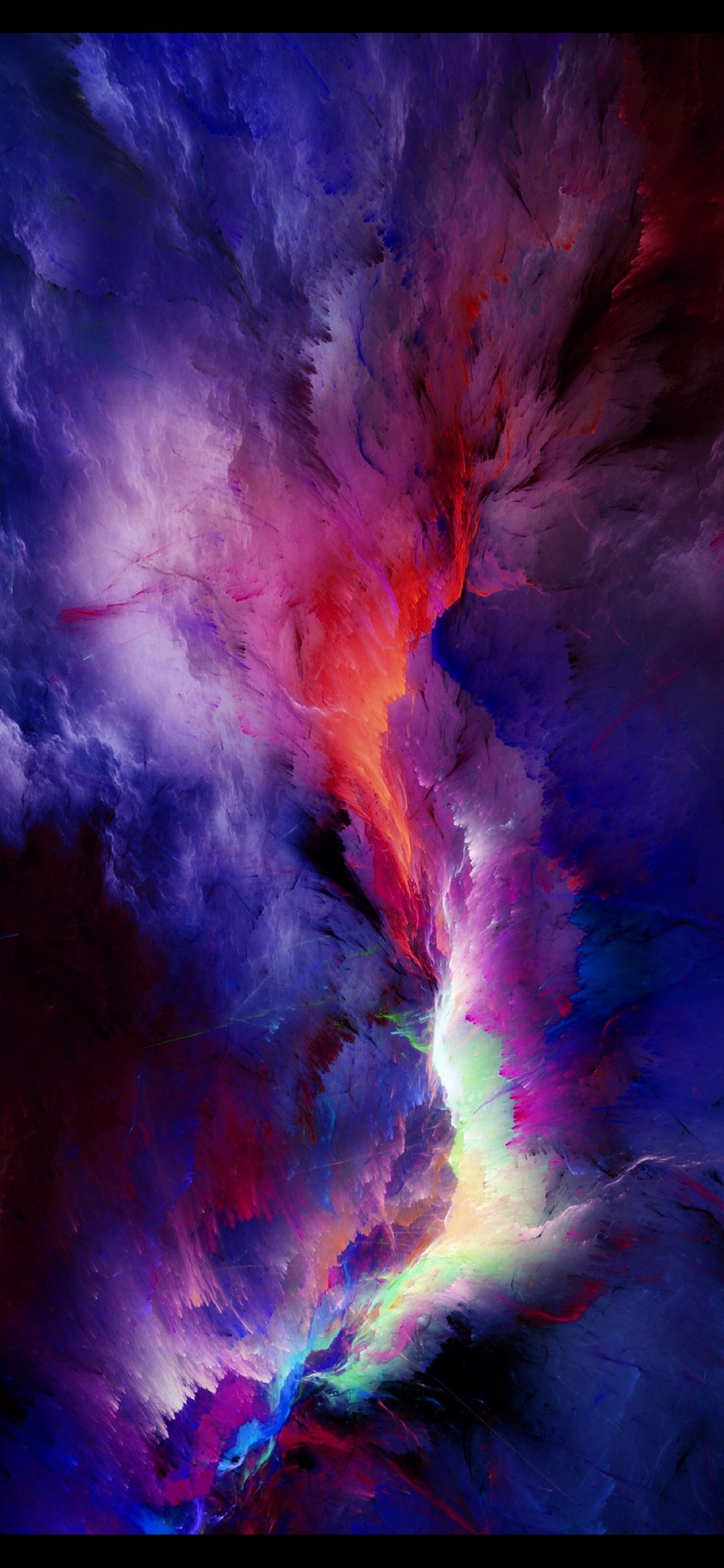 A nebula of color Wallpaper space Abstract Watercolor 1125x2436